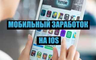 Заработок с помощью айфона