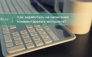 Заработок на отзывах и комментариях в интернете