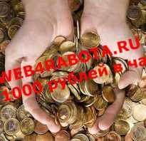 Заработок в интернете с вложением 1000 рублей