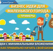 Успешный бизнес в маленьком городе примеры